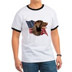 Chocolate Lab Flag Ringer T