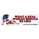 A REAL Woman Bumper Sticker