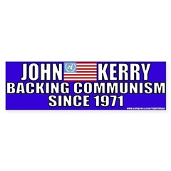 Anti-John kerry (Communism) Sticker (Bumper)