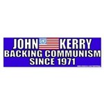 Anti-John kerry (Communism) Bumper Sticker