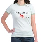 Dog Grandchild Jr. Ringer T-Shirt