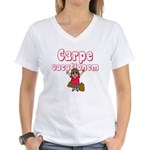 Carpe Vacationem f Women's V-Neck T-Shirt