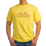 My BoyFriend is Awesome Yellow T-Shirt