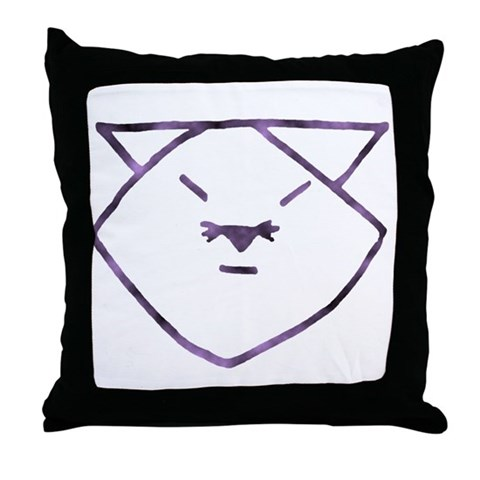 pictures of anime cats. Purple Anime Cats Throw Pillow