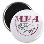 MBA Bacon Pig Magnet