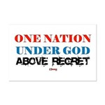 One Nation Above Regret Mini Poster Print