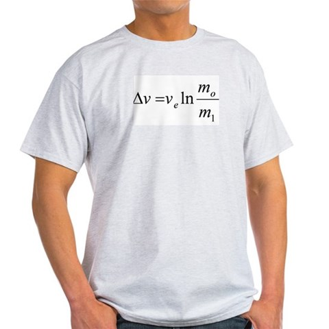 Tsiolkovsky Rocket Science Equation T-Shirt