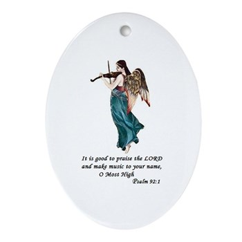 Angel Violin Christmas Ornament
