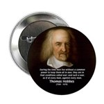 Thomas Hobbes: War 2.25&quot; Button (100 pack)