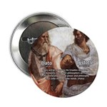 "Plato Aristotle Philosophy 2.25"" Button (100 pack)"