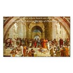 Raphael School of Athens Rectangle Sticker