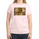Raphael School of Athens Women's Pink T-Shirt