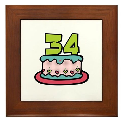Surprising your birthday friends with our cute cartoon 34 birthday cake