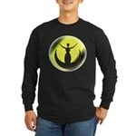 Moon Goddess Long Sleeve Black T-Shirt