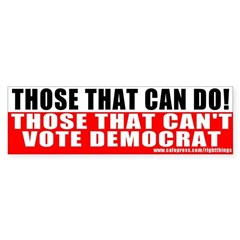 Anti Democrat Sticker (Bumper)