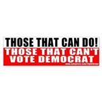 Anti Democrat Bumper Sticker