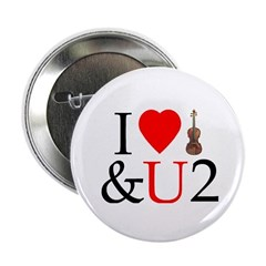I Luv Violin & U Button