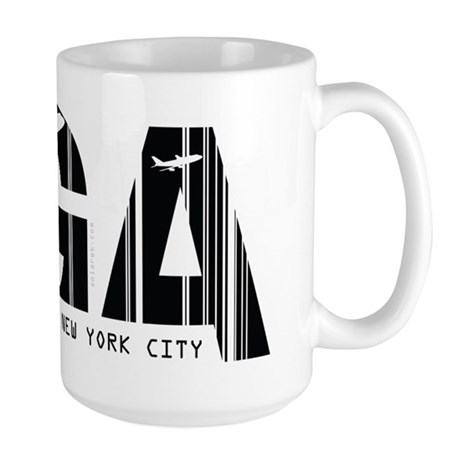 New York City LGA La Guardia Airport Large Mug