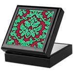 Garnet & Jade Damask Keepsake Box