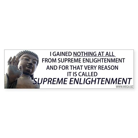Supreme Enlightenment Buddha Sticker (Bumper) by megacreations ...