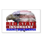 Red State Insurgent T-shirts Sticker (Rectangular