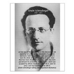 Erwin Schrodinger: Physics Small Poster