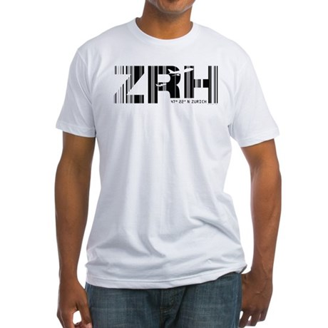 Zurich Switzerland ZRH Air Wear Fitted T-Shirt