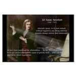 Sir Isaac Newton: Gravity Large Poster