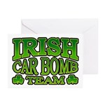 Irish Car Bomb Team Shamrock Greeting Cards (Pk of