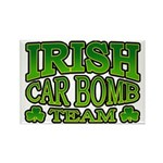Irish Car Bomb Team Shamrock Rectangle Magnet (10