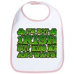 I'm Not Irish but Kiss Me Anyways Shamrock Bib