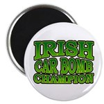 "Irish Car Bomb Champion Shamrock 2.25"" Magnet (10"