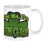 Kiss Me I'm Single Shamrock Mug