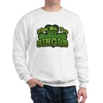 Kiss Me I'm Single Shamrock Sweatshirt