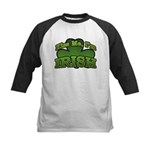Kiss Me I'm Irish Shamrock Kids Baseball Jersey