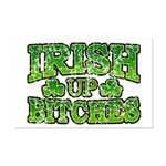 Distressed Drink Up Bitches Shamrock Mini Poster P
