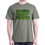 Distressed Drink Up Bitches Shamrock Dark T-Shirt