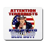 Uncle Sam Anti Terrorist Mousepad