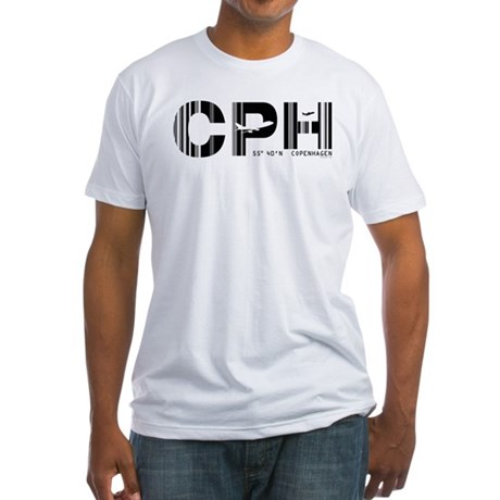 Copenhagen Denmark CPH Air Wear Fitted T-Shirt