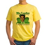Obama My Lucky Charm Yellow T-Shirt