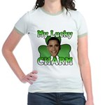 Obama My Lucky Charm Jr. Ringer T-Shirt