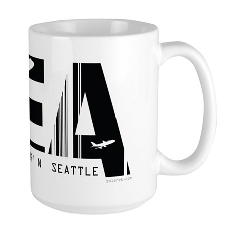Seattle Washington SEA Air Wear Large Mug
