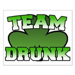 Team Drunk Small Poster
