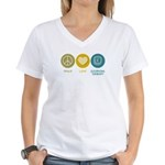 Peace Love Occupational Therapy Women's V-Neck T-S