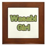 Wasabi Girl Framed Tile