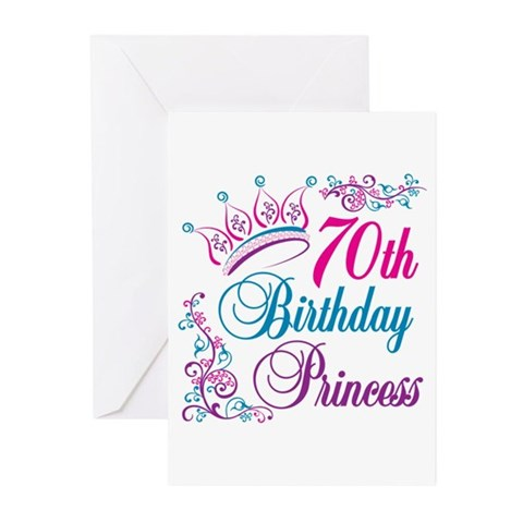 70th birthday cards. 70th Birthday Princess