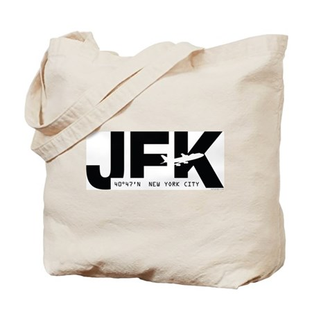 New York City Airport JFK Black Des. Tote Bag