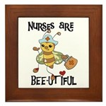 Nurses Are Bee-utiful Framed Tile