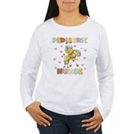 Bee Pediatric Nurse Women's Long Sleeve T-Shirt