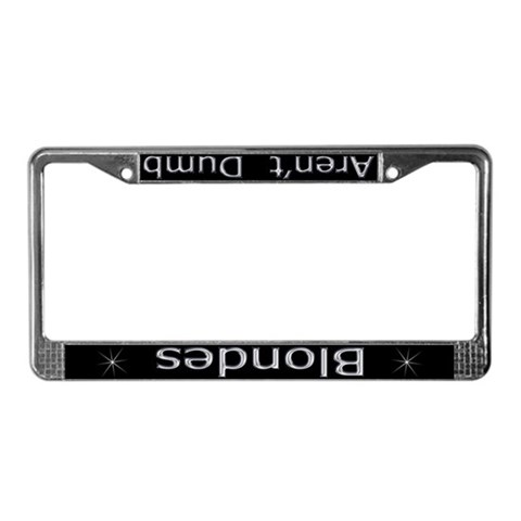 funny license plate frames. A funny license plate holder